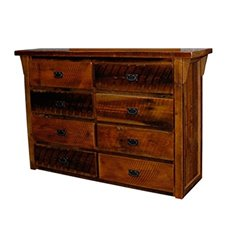8 Drawer Dresser pictured without Mirror in Urban Distress Stain