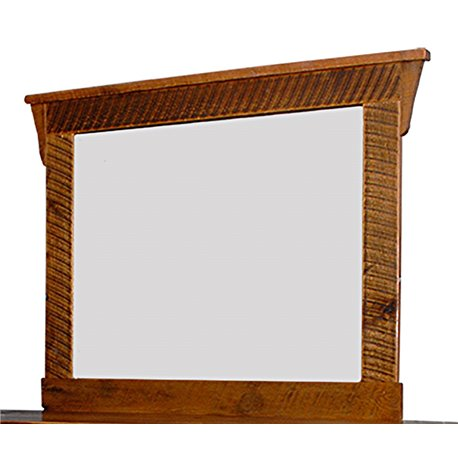 Barn Wood Mirror and Frame in Urban Distress Stain