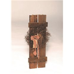 Rustic Primitive Small Decorative Shutter