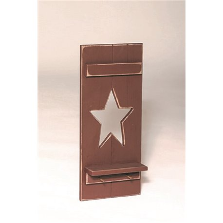 Primitive Decorative Shutter with Rustic Welcome Star