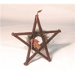 Primitive Decorative Reclaimed Painted Lath Board Rustic Star