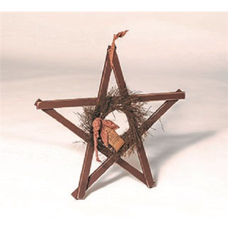 Primitive Decorative Reclaimed Lath Board Rustic Star