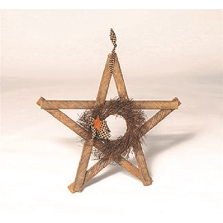 Primitive Decorative Reclaimed Unfinished  Lath Board Rustic Star