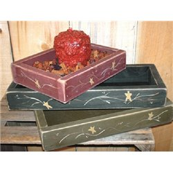 Rustic Primitive Candle Box Decor - 3 Size Options