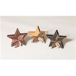 Primitive Decorative Country Chunky Rustic Star Cut Outs