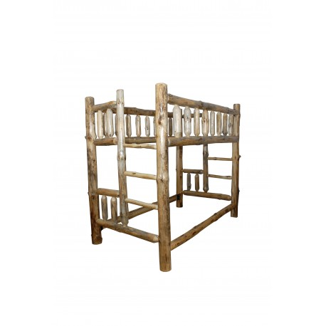 Rustic Pine Log Bunk Beds in Michael's Cherry Stain - Available in *3 SIZES*