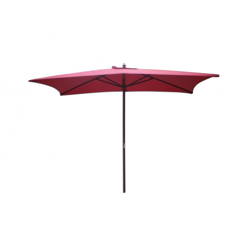 rectangular market umbrella 9 39 wood pole autumn red upright