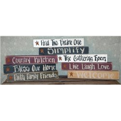 Rustic Primitive Wooden Signs - Different Varieties