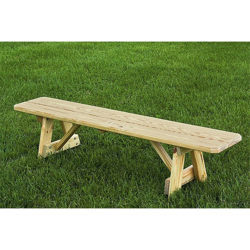 Inch Traditional Picnic Bench - Unfinished wood picnic table