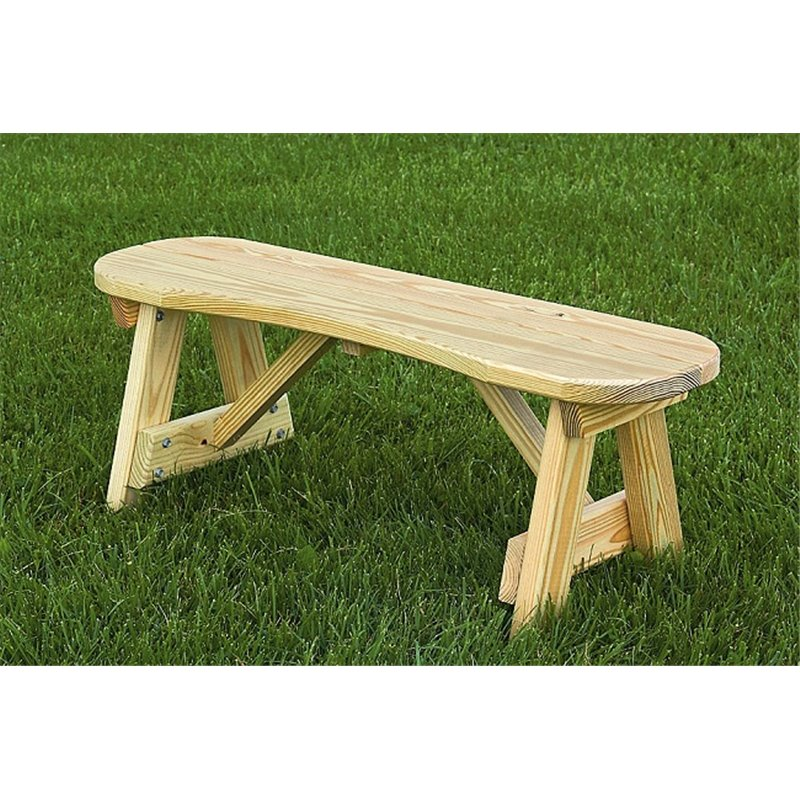 Inch Traditional Curved Picnic Bench - Treated lumber picnic table