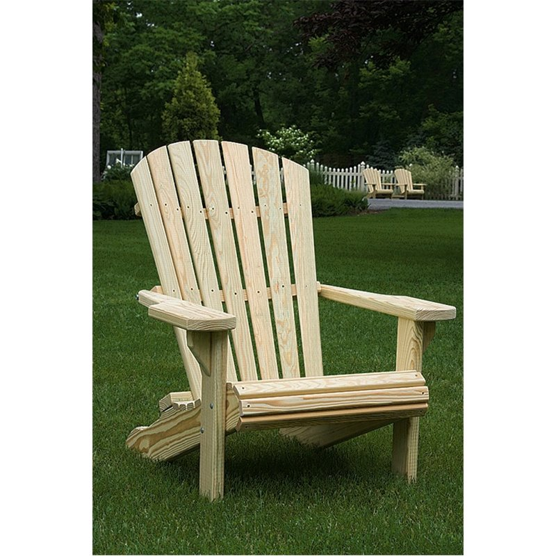 Pressure Treated Pine Adirondack Chair   Unfinished, Painted, Or Stained