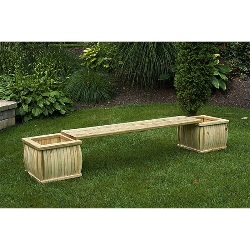 Pressure Treated Pine 66 Planter Bench Unfinished Painted Or Stained