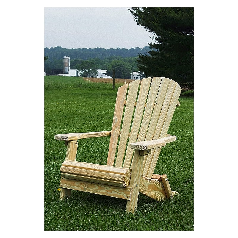 Pressure Treated Pine Folding Adirondack Chair   Unfinished, Painted, Or  Stained ...