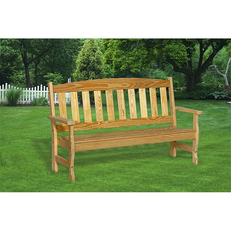 Pine 4 Foot Backed Bench