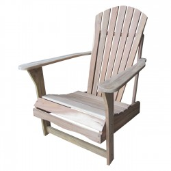 Solid Acacia Adirondack Chair - Unfinished