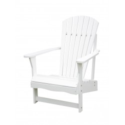 Solid Acacia Adirondack Chair - White