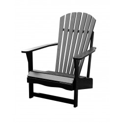 Solid Acacia Adirondack Chair - Black