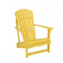 Solid Acacia Adirondack Chair - Yellow
