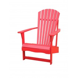 Solid Acacia Adirondack Chair - Red