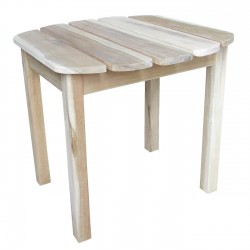 Solid Acacia End / Accent / Side Table - Natural Unfinished