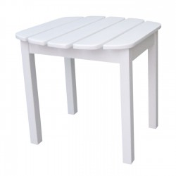 Solid Acacia End / Accent / Side Table - White