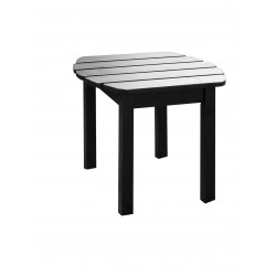 Solid Acacia End / Accent / Side Table - Black