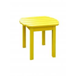 Solid Acacia End / Accent / Side Table - Yellow