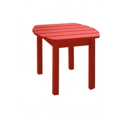 Solid Acacia End / Accent / Side Table - Red