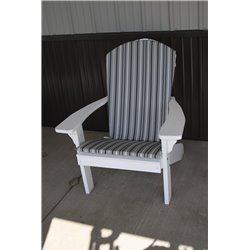 Adirondack Chair Full Cushion - Gray Stripe