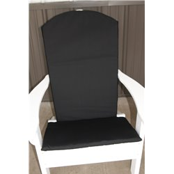 Adirondack Chair Full Cushion - Black