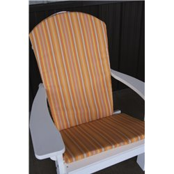 Adirondack Chair Full Cushion - Orange Stripe