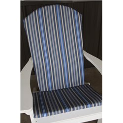 Adirondack Chair Full Cushion - Blue Stripe