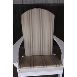 Adirondack Chair Full Cushion - Beige Stripe