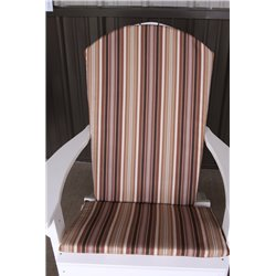 Adirondack Chair Full Cushion - Maroon Stripe