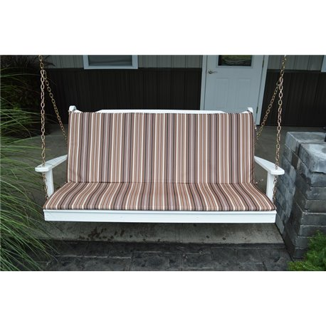 4 Ft Bench Porch Swing Glider Outdoor Cushion 1 Inch Thick