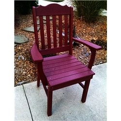 Traditional Dining Chair w/ Arms (Cherry Wood)