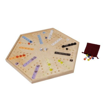 Classic Wooden Game Board - Aggrevation / Chinese Checkers - Amish Crafted