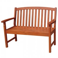 Solid Acacia 4' Slat-Back style Garden Bench - Natural Oiled