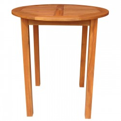Solid Acacia Round Bar Table - Natural Oiled