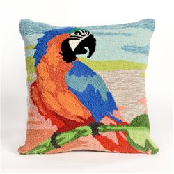 Colorful Macaw Bird Beach Sunset