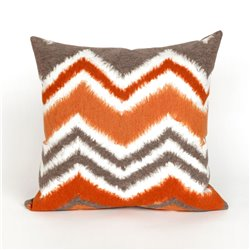 Chevron Zig Zag in Orange and Gray