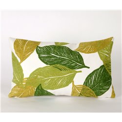 Green Leaf  Pillow on White