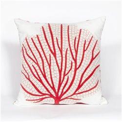 Red-Orange Fan Coral on Cream