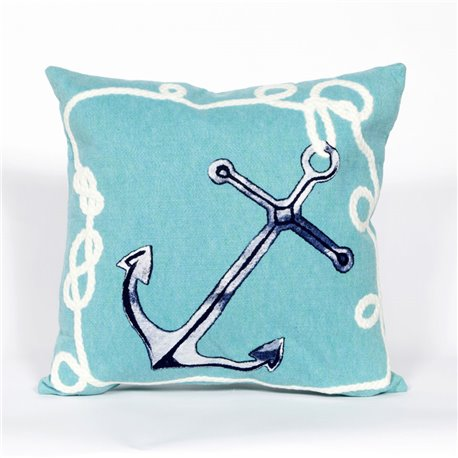 Nautical Marina Anchor on Aqua