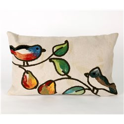 Song Birds Pillow - 3 Background Color Choices
