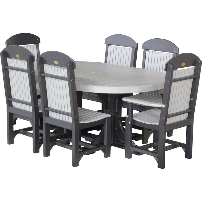 Poly 4x6 Oval Table Amp Chairs