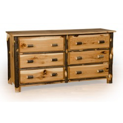 Rustic Oak / Hickory 6 Drawer Dresser