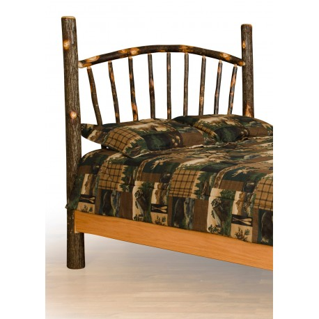 Rustic Hickory Bed - Sunburst - Headboard Only
