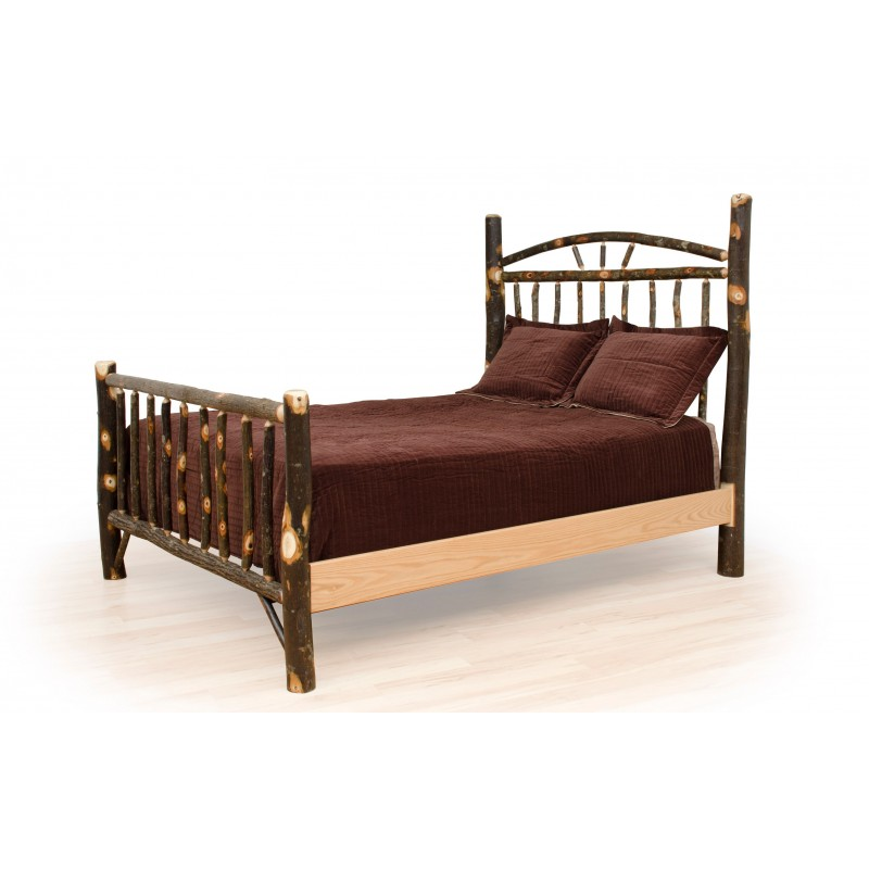 Rustic Hickory Bed - Wagon Wheel - Headboard Only