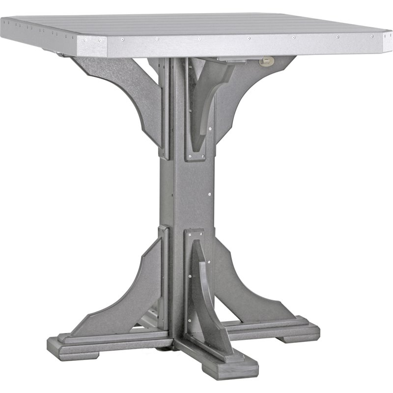 Poly Furniture Wood 41 Quot Square Table With 4 Swivel